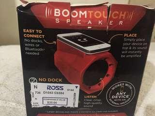 Boom touch speaker