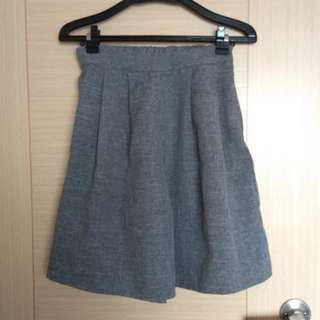 🚚 灰色麻寬褲五分褲