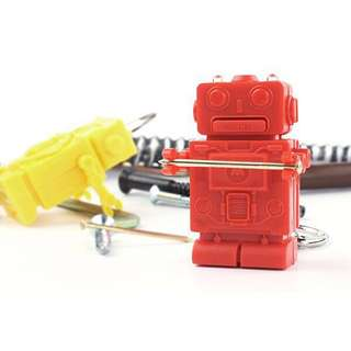Cute Original Robot Shape 3 in 1 screw drivers Tool+ LED flashlight (Red)
