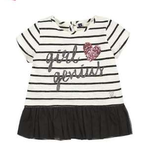 BNWT 2T Black and White Dress/Top