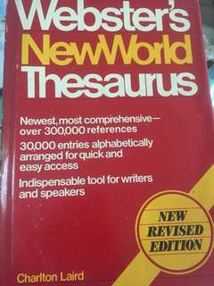 "buku impor kamus ""webster's new world thesaurus"""