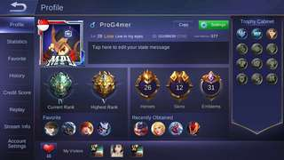 Legend account with skins