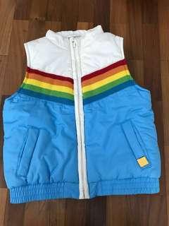 12-18m Baby's Rainbow Winter vest