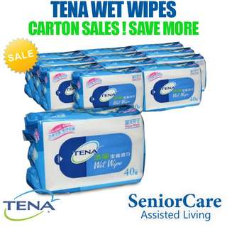 [CARTON] TENA Wet Wipes 12 Packets