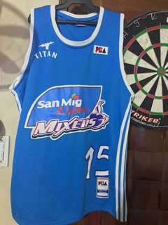 Signed PBA Marc Pingris Jersey  San Mig coffee