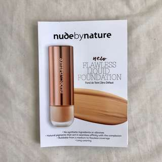 FREE nude by nature flawless liquid foundation sample