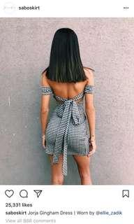 Sabo Skirt Jorja gingham Dress