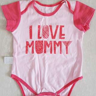 I love mummy baby romper