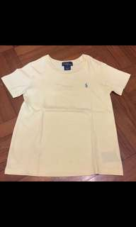 5-6Y歲 正品polo黃色上衣 Size: 5 (90%New)