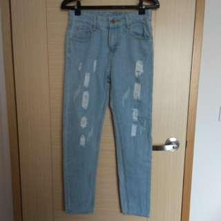 🚚 淺色牛仔褲男友褲