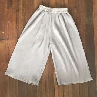 PLEATED GRAY CULLOTES (freesize)