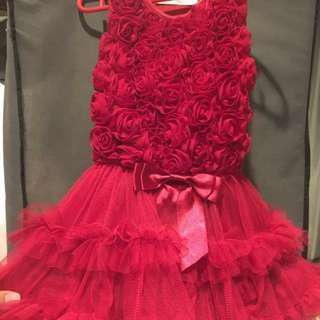 [PL] Red ballerina dress 18month/2.5Y