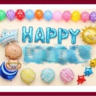 [BN] Happy Foil Balloon Set