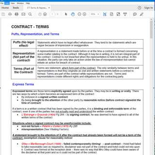 LAW2446 Commercial Law Cheatsheets/PYP/ANSWERS/NOTES SIM RMIT