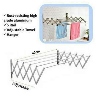 Aluminium Retractable Drying Rack Cloth Hanger