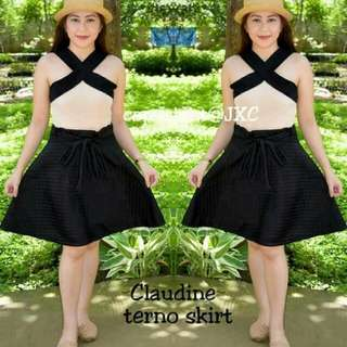 🍒Claudine terno skirt🍒  🍒Can fit to: Small - Medium