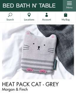 MORGAN & FINCH cat heat pack - grey
