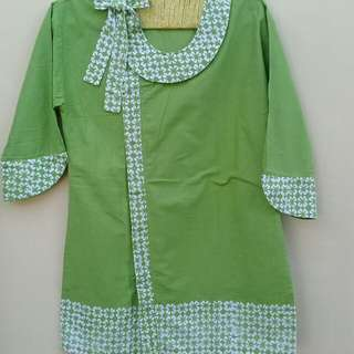 Batik hijau+polos