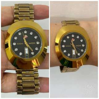 Rado Authentic DiaStar Gold Mens Watch