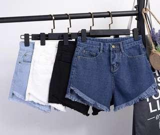 Frayed High Waisted Shorts