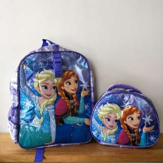 DISNEY Frozen Backpack with Lunch Bag