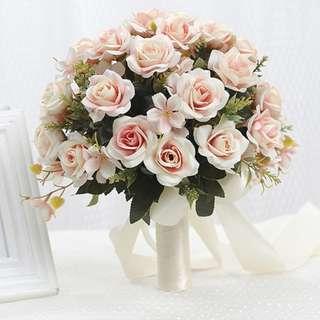 韓式婚禮仿真花球 Wedding flower bouquet