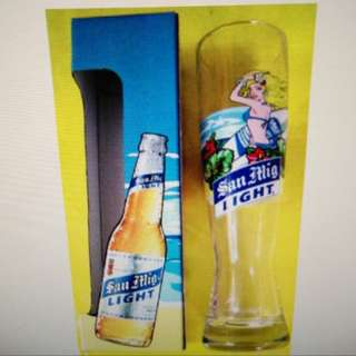 生力啤 長身玻璃杯