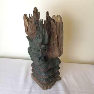 Antique dragon wood carving sculpture