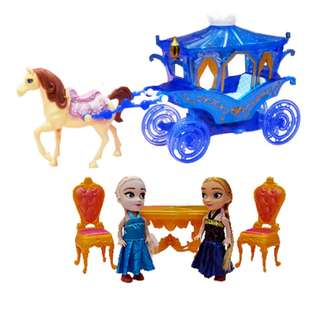 Elsa Anna Frozen Carriage Series with Lighting and music Design A