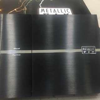 Metallic six channel amplifier