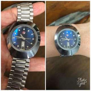 Rado Authentic DiaStar Blue Face Mens Watch