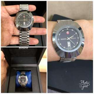 Rado Authentic DiaStar Black Face Mens Watch