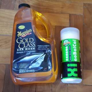 Meguiar's Gold Class Car Wash Shampoo & Conditioner c/w a synthetic-chamois cloth
