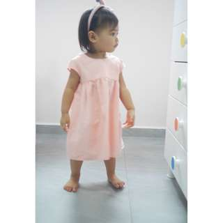 Ribbon Back Dress Pink