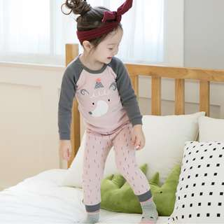 Girl Pink Pyjamas 2pcs Set
