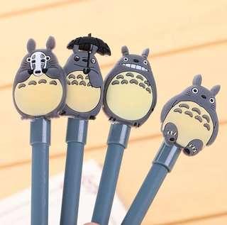 卡通龙猫水笔 可爱黑色签字笔