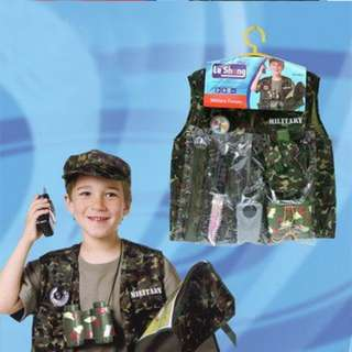 Children Role Play Costume - Army 4-7y
