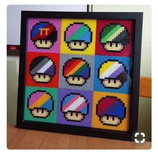 Super Mario Hama Designs