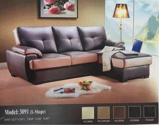 L Shape Sofa pvc