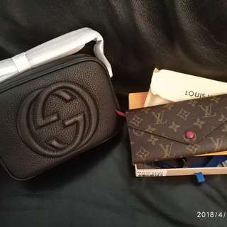 Gucci and LV bags