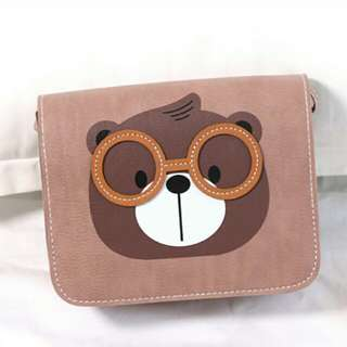 Nerdy bear sling bag with free shipping