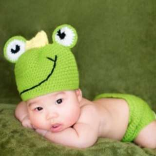 Baby Green Froggy Costume
