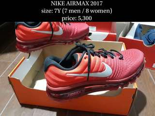 NIKE AIRMAX 2017 size 8 (100% authentic)