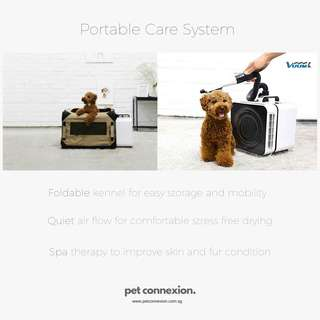 Pet Care Dryer system with kennel
