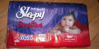 Sleepy branded diapers