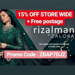 RIZALMAN FOR ZALORA SALE!! 15% OFF