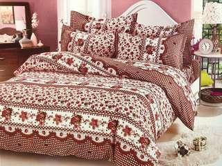 Bed Cover dan Sprei Katun Jepang Love Lace Flower