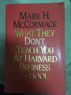 """buku impor """"What they don't teach you at Harvard business school)"""