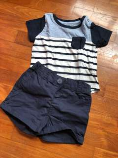 Cotton On Baby Tee & Pant