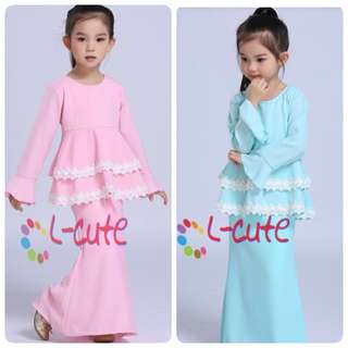 SET PEPLUM LACE KIDS